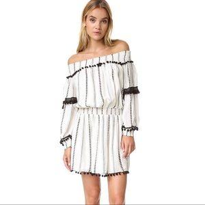 Tularosa Jacqueline Tunic Ivory Pom Trim Dress Med